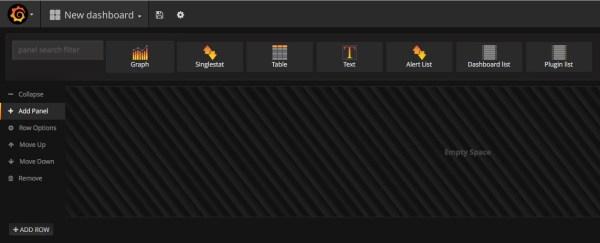 Grafana: add panel