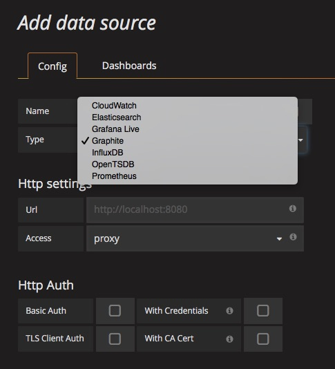 Grafana: data sources