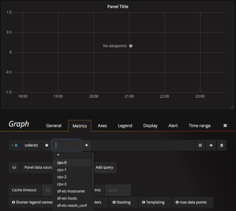 Grafana: edit graph