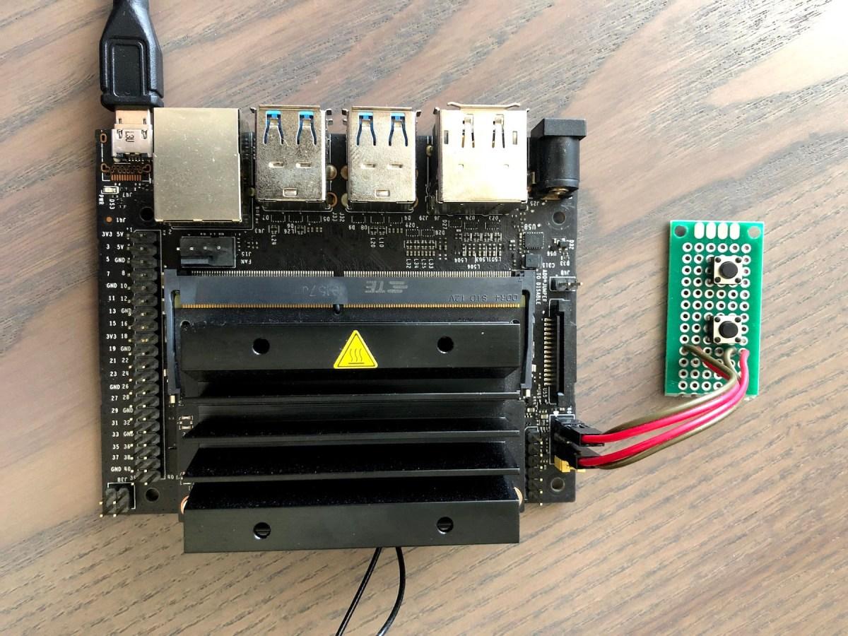 Power buttons Jetson Nano