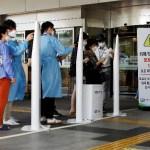 seoul hospital visitors in masks