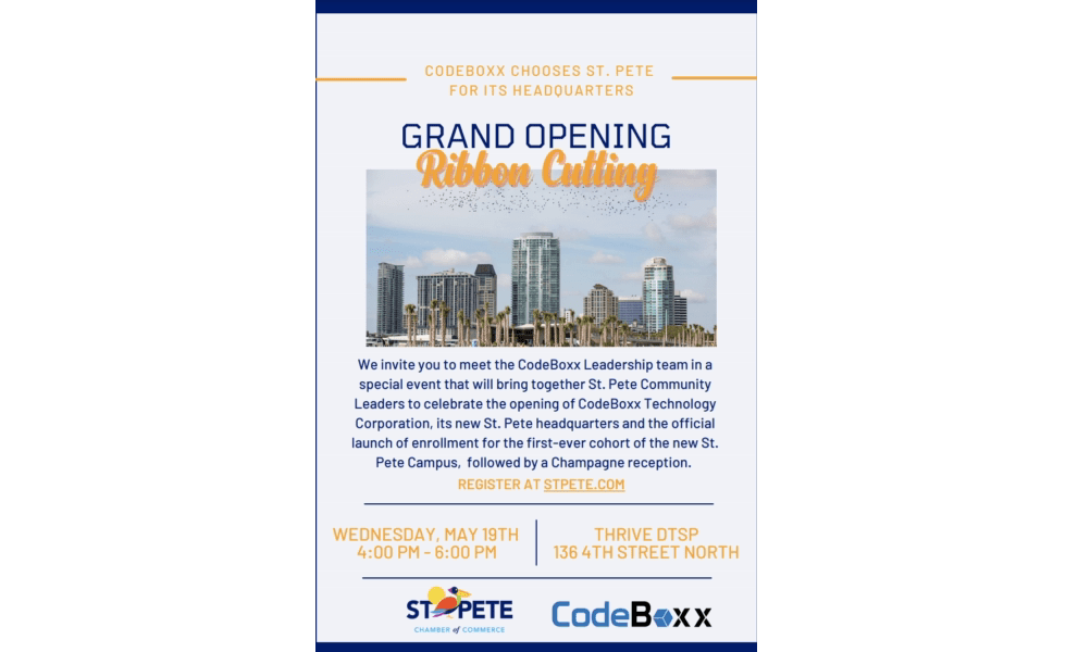 CodeBoxx Tampa Bay: Ribbon Cutting Event on May 19th