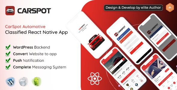 Download CarSpot v1.3 - Dealership Classified React Native Android App + IOS Free / Nulled