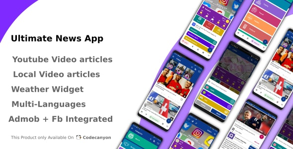Download Ultimate News App v1.0 - (Video,Youtube,Weather,Survey) Free / Nulled