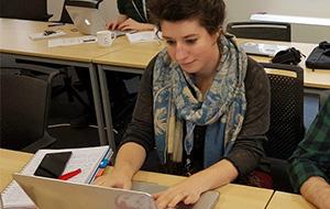 Megan training at CodeClan Glasgow