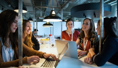 Women coding at CodeClan