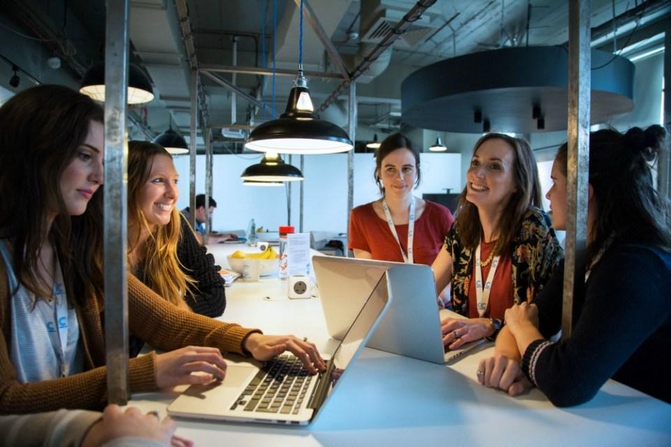 Women coding at CodeClan