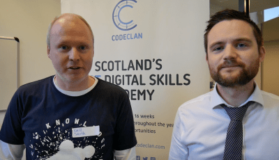 Neill and Gary from the Scottish Government