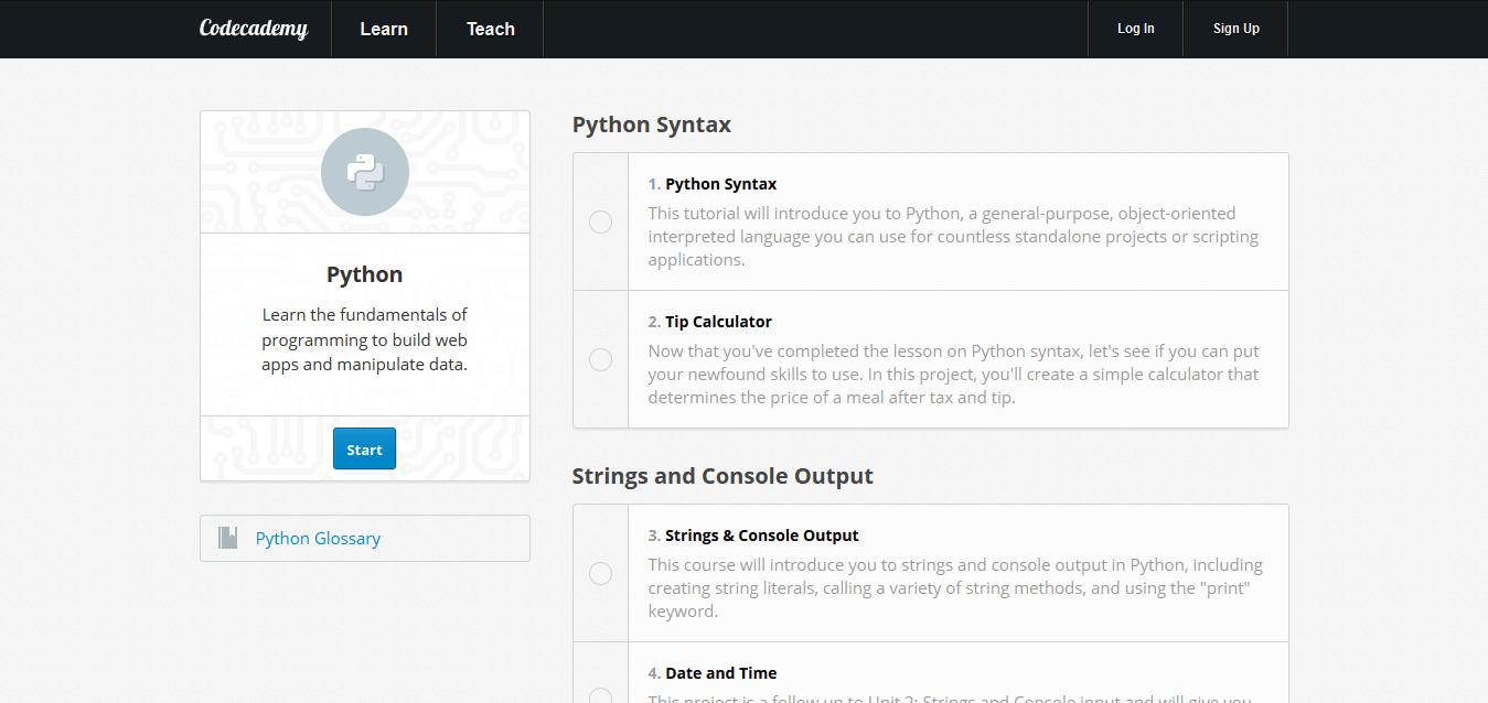 Learn Python Programming I Codecademy Online Tutorials