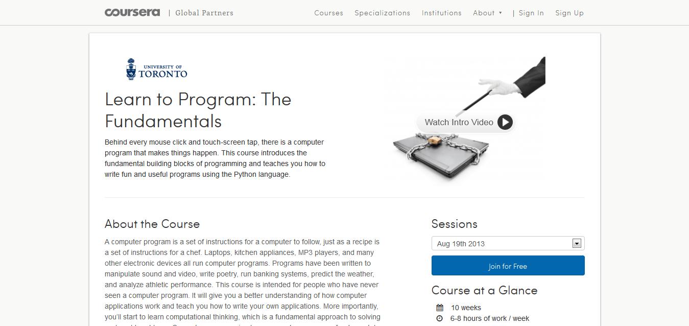 Learn to Program_ The Fundamentals I Coursera