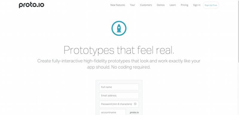 Proto.io   Prototypes that feel real