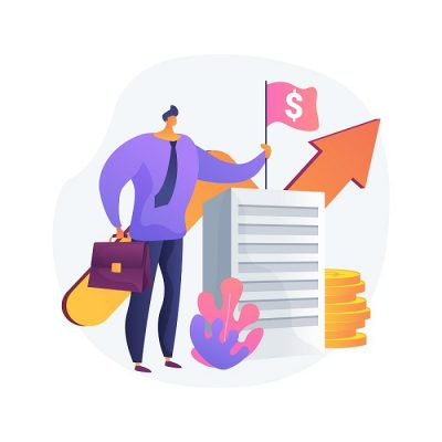 Revenue agency abstract concept vector illustration. Tax law, remit GST and HST, business number registration, savings and pension plan, payroll account, family benefit, charity abstract metaphor.