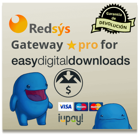 RedSys Gateway for EDD Pro