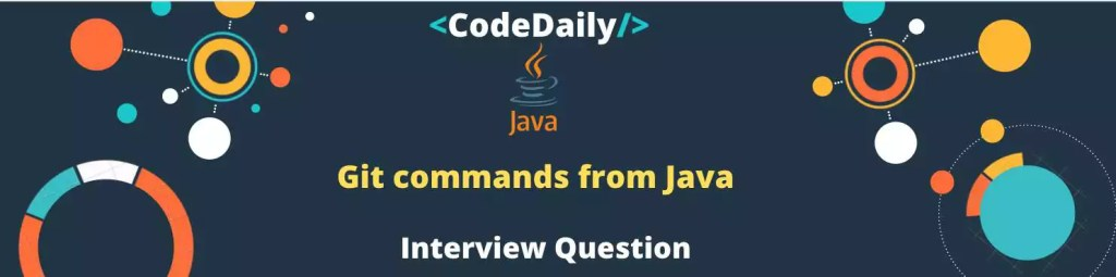 Git commands from Java