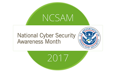 October is National Cybersecurity Awareness Month. Are you aware yet?