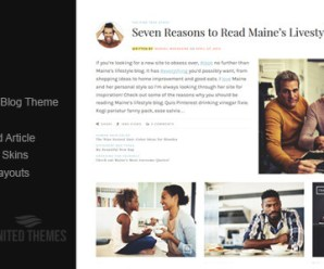 Maine – A Responsive WordPress Blog Theme