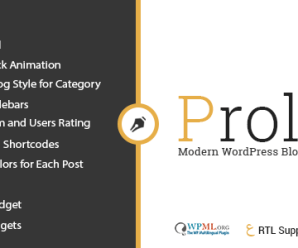 Prolog – Personal Creative Blog WordPress Theme