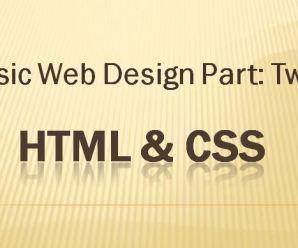 Lesson 2: Basic Webdesign Part-Two