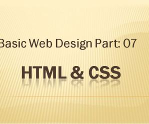 Lesson-07: Basic Webdesign: Part-07