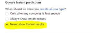 predictions setting