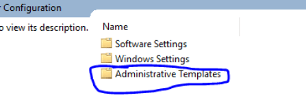 Administrative Templates