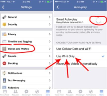 Stop Facebook Auto Play Videos