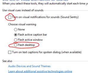 Turn On Windows Visual Desktop Notifications