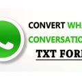 Convert WhatsApp Conversation Into TXT Format