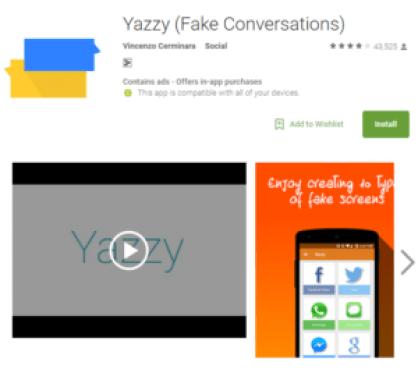Yazzy fake conversation