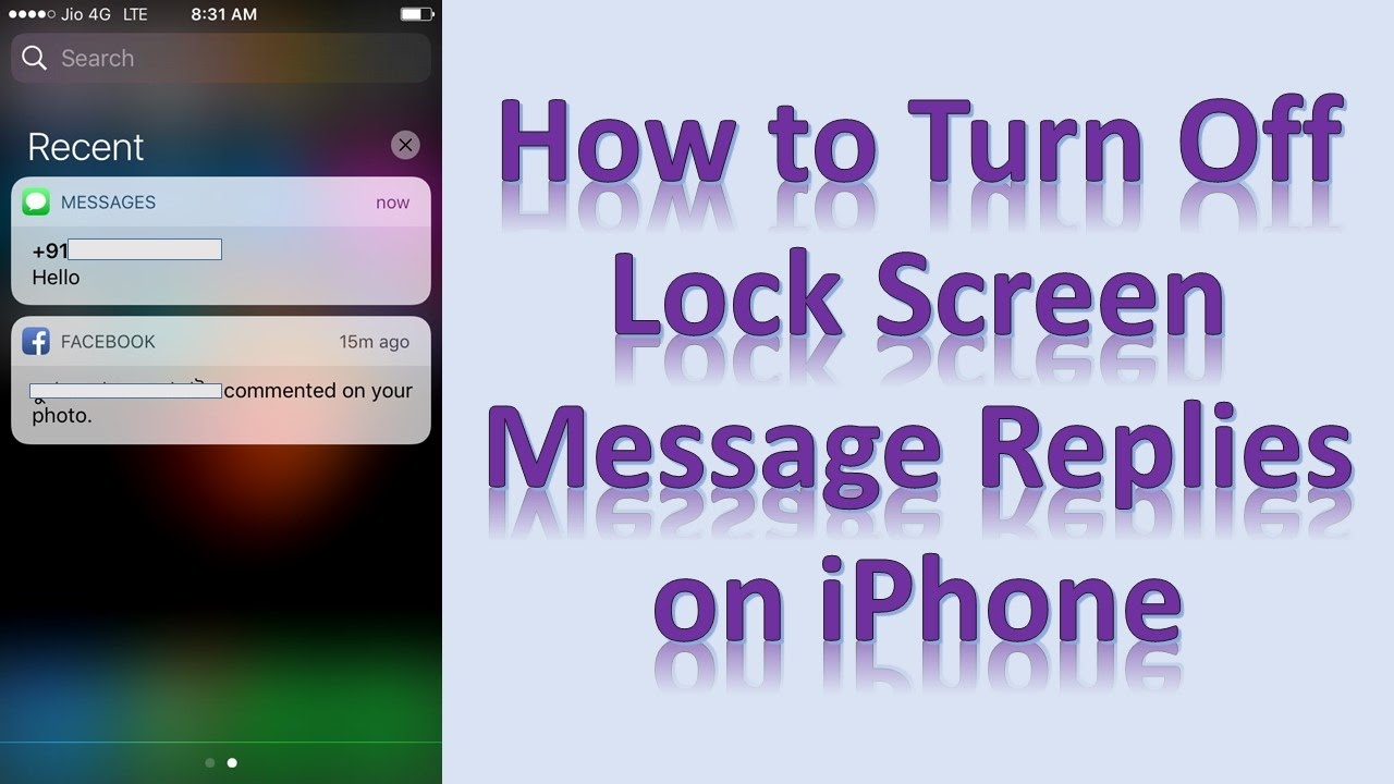 Turn Off Lock Screen Message Replies In iPhone     Code Exercise