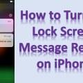 Turn Off Lock Screen Message Replies In iPhone