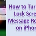 Turn Off Lock Screen Message Replies In iPhone