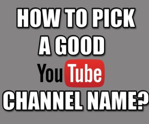 How To Pick A YouTube Username