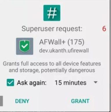 SuperUser Request