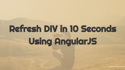 refresh div in 10 seconds using angularjs