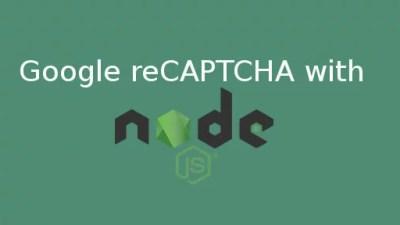 Google recaptcha nodejs