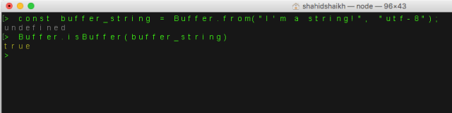 Nodejs buffers