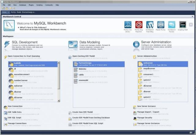 MySQL Workbench view