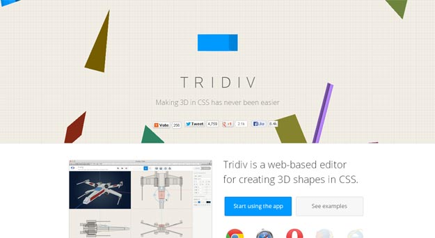 Tridiv - css animations
