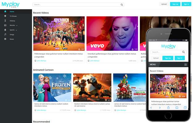 Best Html Video Website Templates Code Geekz