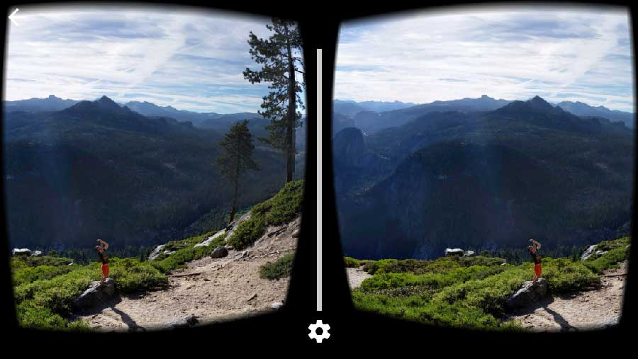 Google's street view app now supports VR headsets such as Google Cardboard,gear vr,etc.