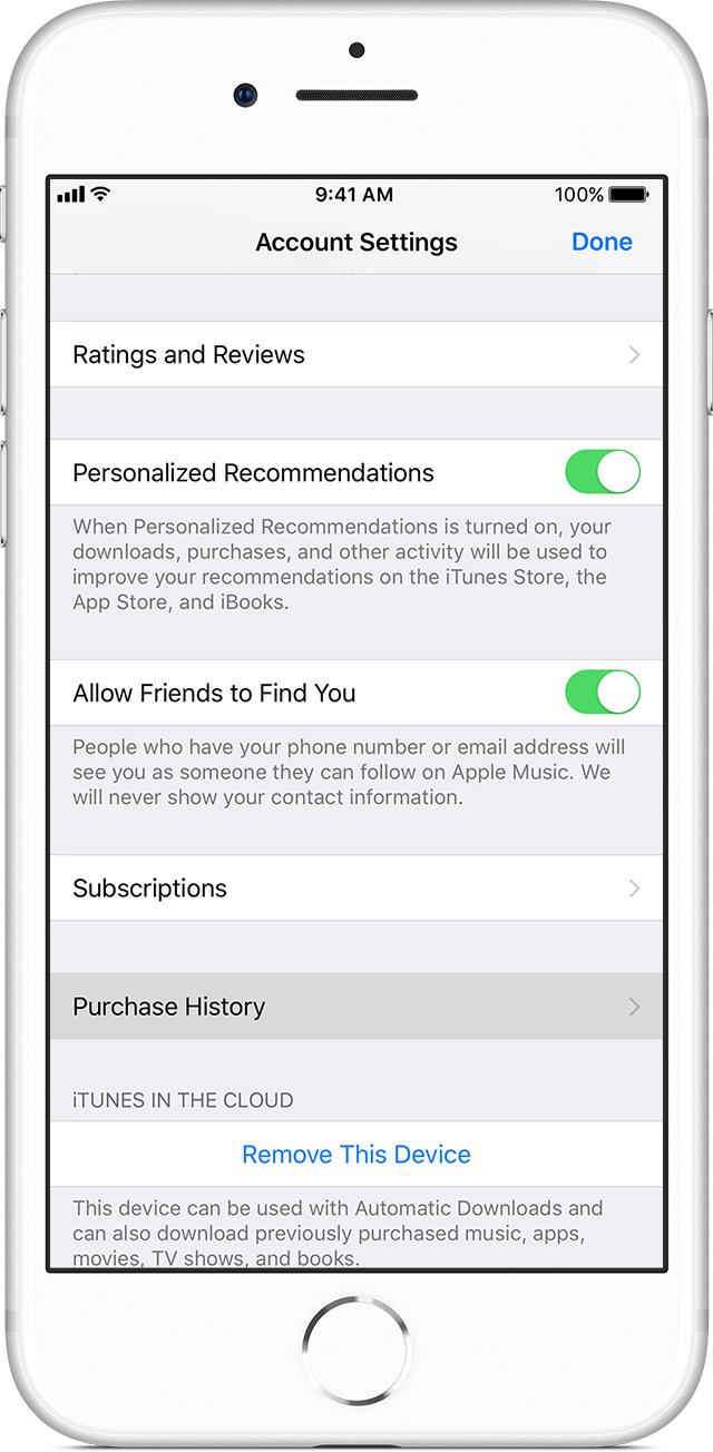 Itunes account purchase history ipad