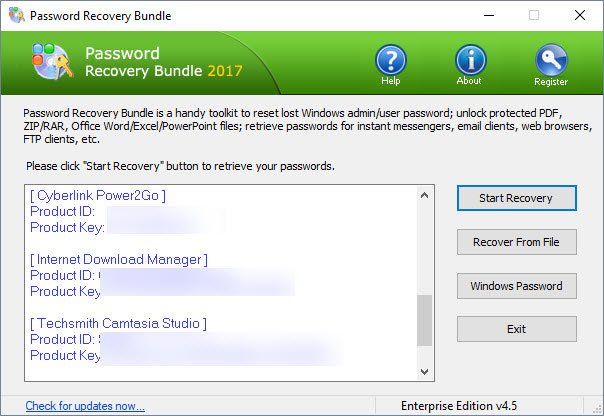 password recovery programme