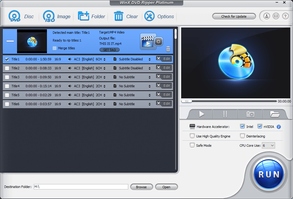 Backup dvd with winx dvd ripper