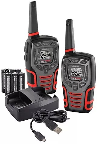 These Cobra FRS/GMRS units are typical middle-of-the-road units.