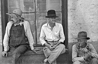 Sharecropping is often associated with poverty and exploitation as implied by this 1935 picture of cotton sharecroppers, but there's no reason why you can't create a fair and mutually beneficial agreement to allow third parties as tenants on your retreat acreage.