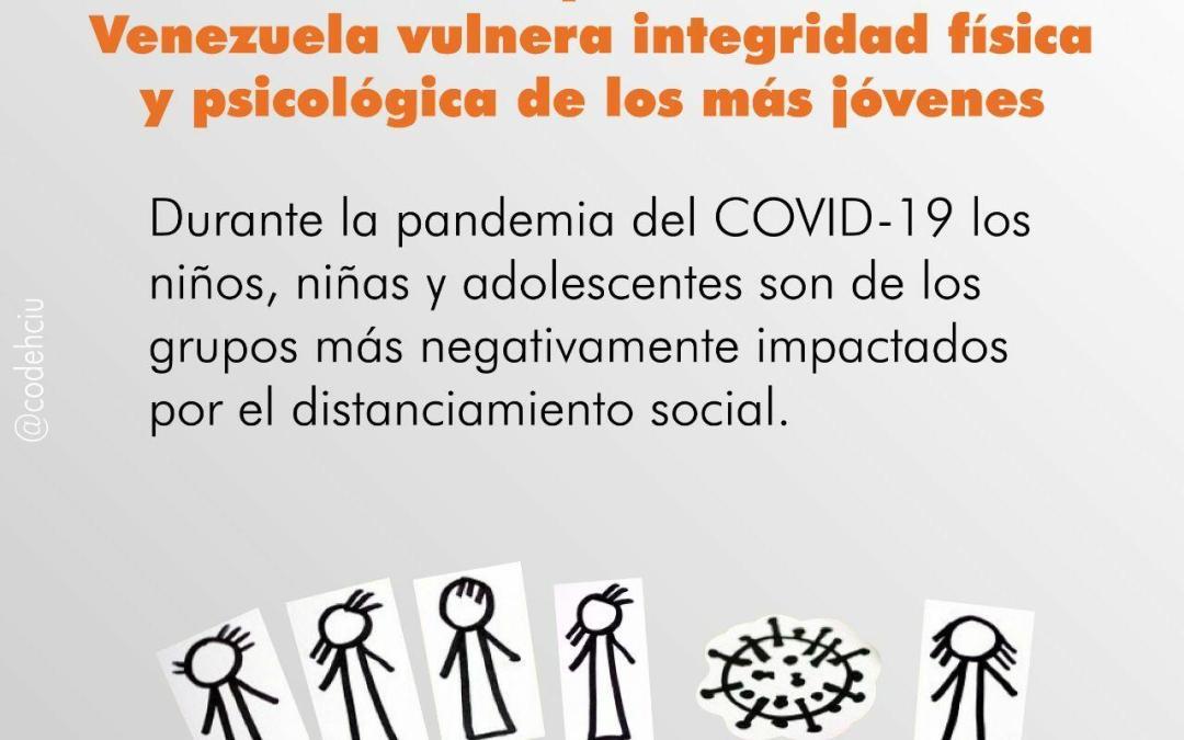 Distanciamiento social por Coronavirus en Venezuela vulnera integridad física y psicológica de los más jóvenes