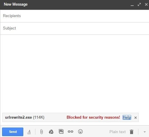 How to attach EXE file in Gmail - Code Hotfix
