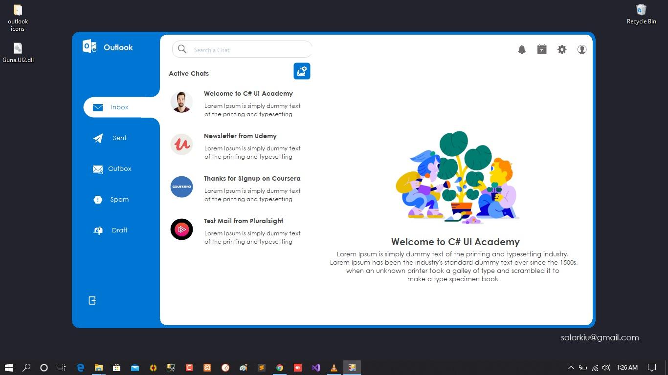 Outlook design Demo