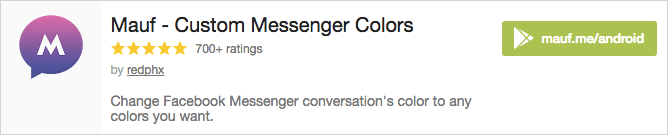 Change Facebook Messenger conversation's color to any colors you want